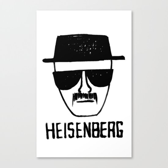 Heisenberg - Breaking Bad Sketch Canvas Print