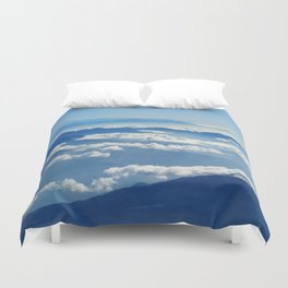 Mountains and Clouds in Nepal Duvet Cover