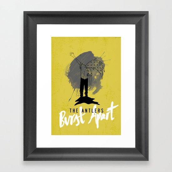 Burst Apart Framed Art Print