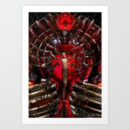 Technological Crucifixion Art Print