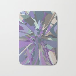 Fractured Grey Purple Blue - Abstract Art by Fluid Nature Bath Mat