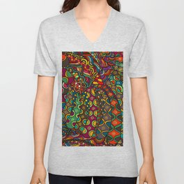 African Style No13, Tribal dance Unisex V-Neck