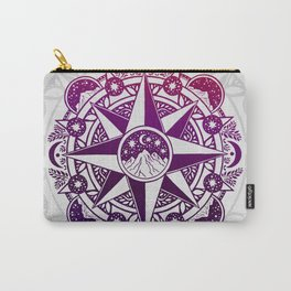 Journey to Moon Mountain | Purple & Magenta Ombré Carry-All Pouch