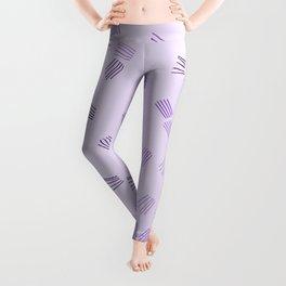 Lilac & purple puzzle Leggings