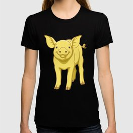 Cute Piglet July 17 Yellow Pig Day T-shirt