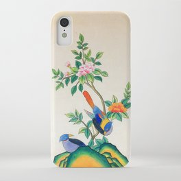 Minhwa: Peony and Two Little Birds  iPhone Case