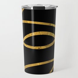 Golden Arcs - Abstract Travel Mug