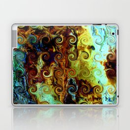 Colorful Wood Spirals Background #Abstract #Nature Laptop & iPad Skin