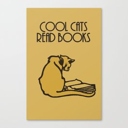 Cool cats read books Canvas Print