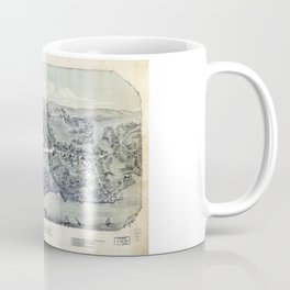 Aerial View of Madison, Connecticut (1881) Coffee Mug