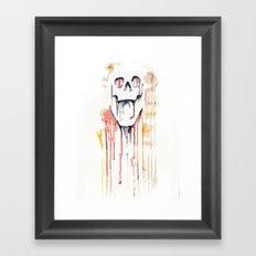 skull drips  Framed Art Print