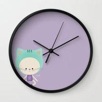 lucas david Wall Clocks featuring Lucas by Güzel