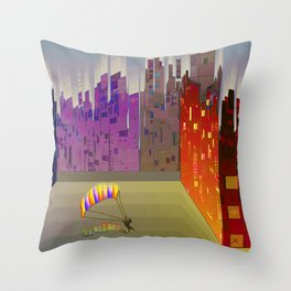 Landing in The Main Square Throw Pillow