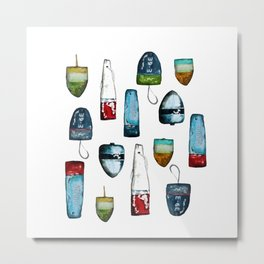 Bouys from Maine  Metal Print