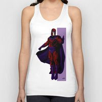 magneto Tank Tops featuring Magneto by Andrew Formosa