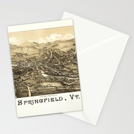 Aerial View of Springfield, Vermont (1886) Stationery Cards
