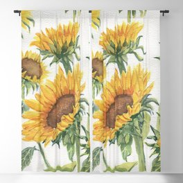Blooming Sunflowers Blackout Curtain