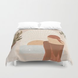 Clarity comes from Action Duvet Cover