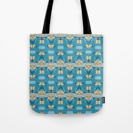 Blue Rinse with Handbag Tessellation Tote Bag
