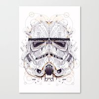 stormtrooper Canvas Prints featuring stormtrooper by yoaz