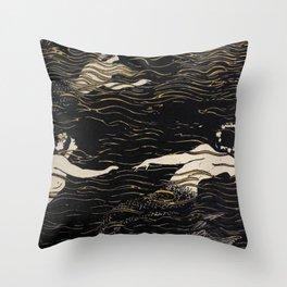 River Nymphs Throw Pillow
