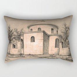 Old church | sketch Rectangular Pillow