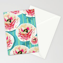 Summer Bloom #floral #pattern Stationery Cards