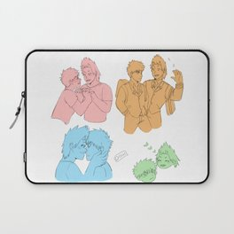 A bunch of bakushima/kiribaku sketches Laptop Sleeve