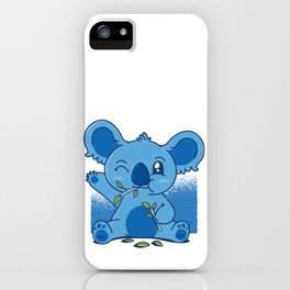 Blue Baby Koala iPhone Case