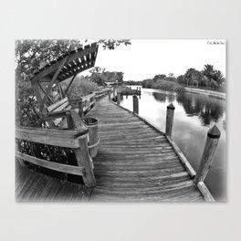 Rickety Boardwalk Canvas Print