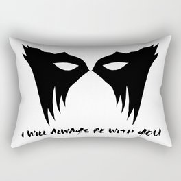 I WILL ALWAYS BE WITH YOU (black) Rectangular Pillow