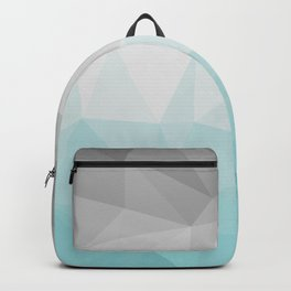 light blue and grey polygon Backpack