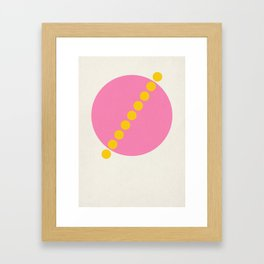 Diameter Framed Art Print