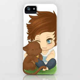 Louis and Kitty iPhone Case