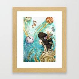 The Jellyfish Garden Framed Art Print