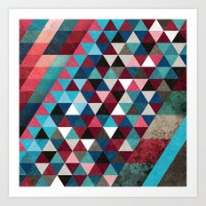 Geometric Candy Art Print