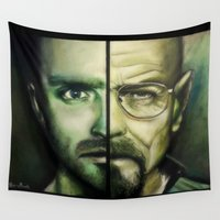 breaking bad Wall Tapestries featuring Breaking Bad by Alycia Plank