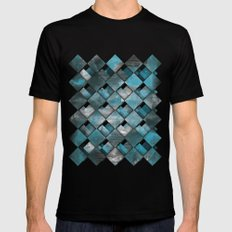 SquareTracts Mens Fitted Tee MEDIUM Black