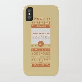 Saturday night fever. iPhone Case