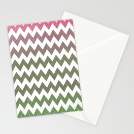 Pink Roses in Anzures 3 Chevron 2T Stationery Cards