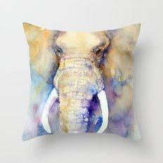 Bluebell Elephant Throw Pillow