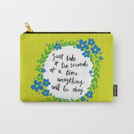 Ten Seconds - Lime Carry-All Pouch