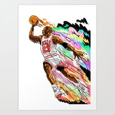 Air Time with Mike Art Print