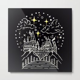 Hogwarts Castle Illustration Metal Print