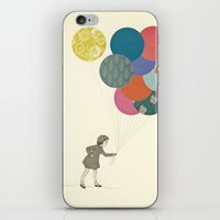 party iPhone & iPod Skins featuring Party Girl by Cassia Beck