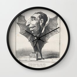 I am a bird, see my wings. I am a bat, long live the rats (La Fontaine), from 'News of the day,' pub Wall Clock