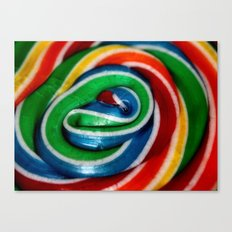 Swirl Rainbow Lollipop Canvas Print
