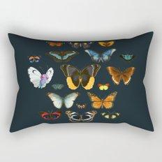 Entomology Vintage Butterfly Rectangular Pillow
