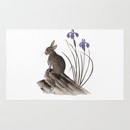 Springtime Rabbit Rug
