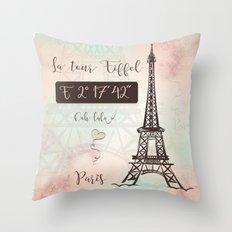 Coordinates Paris Throw Pillow